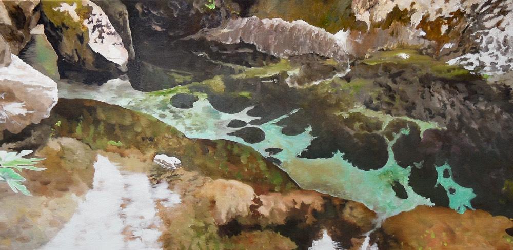 water iv - schilderij van Noëlle Koppers
