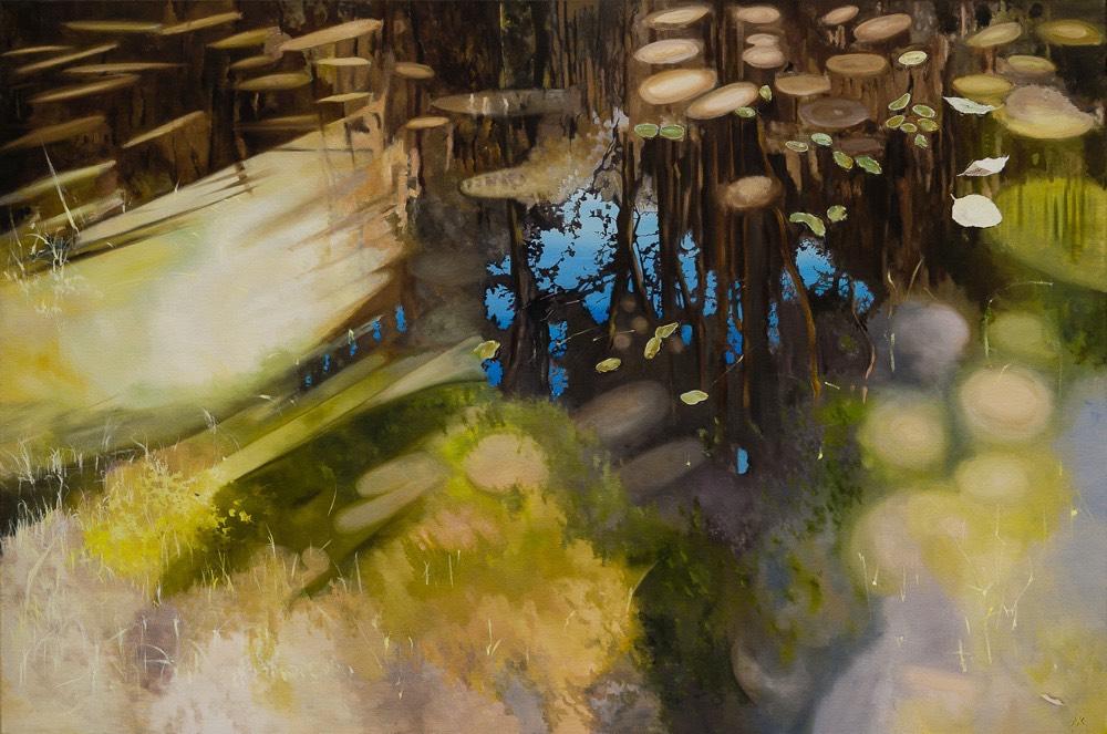 water v - schilderij van Noëlle Koppers