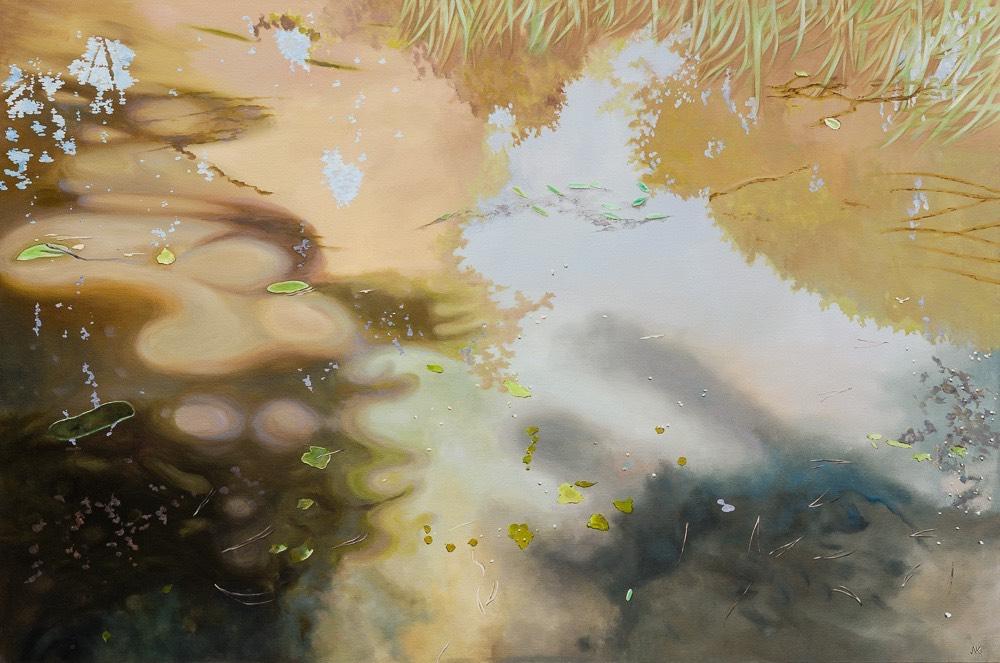 water vi - schilderij van Noëlle Koppers