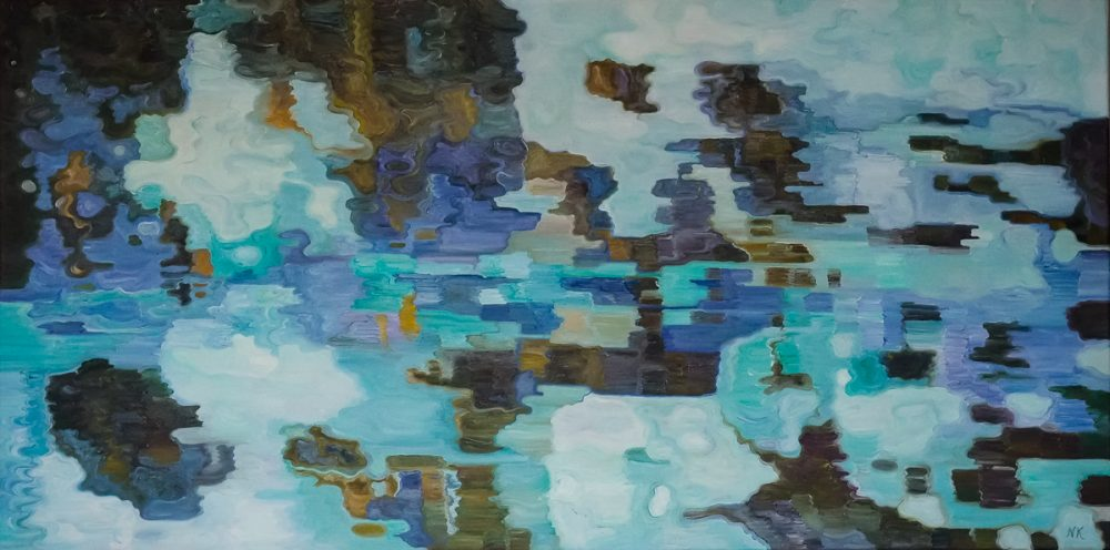 Schilderij van Noëlel Koppers, Water XII, 60 x 120 cm, olieverf/doek